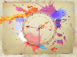 Imagine you take rich water colors and give reins to your passions! Brushes feel freedom in your hands and joyful blots appear on a sheet together with the magical clock hands. The Water Color Clock is a real present to decorate your PC in a free and easy artistic manner lightning your imagination.