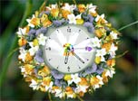 7art Love Flower Clock screensaver: Free Clock screensaver brings you magical time and date on the natural flower.